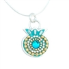 Blue Pomegranate Necklace by Ester Shahaf