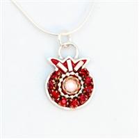 Burgondy Pomegranate Necklace by Ester Shahaf