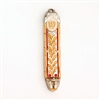 Golden Leaves Mezuzah Case by Ester Shahaf