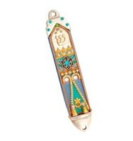 Colorful Mezuzah Case with Flowers by Ester Shahaf