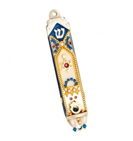 Traditional Mezuzah Case by Ester Shahaf