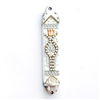 White Mezuzah Case by Ester Shahaf