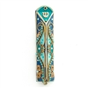 Blue Triangle Mezuzah Case by Ester Shahaf