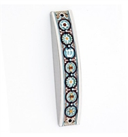 Hand Painted Arched Mezuzah Case by Ester Shahaf