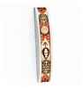 Arched Mezuzah Case With Golden Patterns by Ester Shahaf