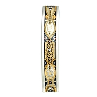 Gold Arched Mezuzah Case by Ester Shahaf