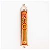 Orange & Red Oriental Mezuzah Case by Ester Shahaf