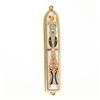 White & Purple Oriental Mezuzah Case by Ester Shahaf
