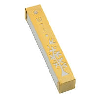 Gold-White Tree Mezuzah Case by Ester Shahaf