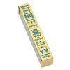 Flowers Mezuzah Case - Gold and Blue by Ester Shahaf