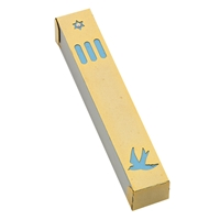 Star of David Dove Mezuzah Case by Ester Shahaf
