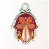 Red Tree of Life Hamsa Hand by Ester Shahaf