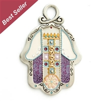 Purple Hamsa Hand by Ester Shahaf