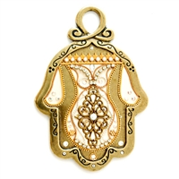Golden Hamsa Hand by Ester Shahaf