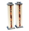 Tall Shabbat Candlesticks with Star Of David by Ester Shahaf