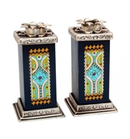 Royal Shabbat Candlesticks by Ester Shahaf