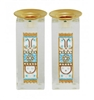 Star of David Shabbat Candlesticks - Light Blue by Ester Shahaf