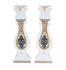 Royal Crystal Shabbat Candlesticks by Ester Shahaf
