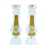 Star of David Crystal Shabbat Candlesticks by Ester Shahaf