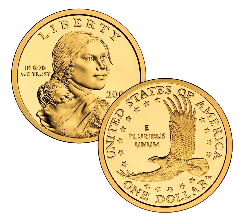 2001 P Amp D Sacagawea Dollar Set