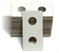 Pack of 100 - 2x2 Cardboard Coin Holder - Nickel Size