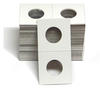 Pack of 100 - 2x2 Cardboard Coin Holder - Quarter