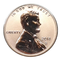2018 - S Lincoln Reverse Proof Shield Cent - Ultra Cameo