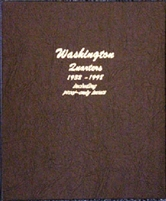 Dansco Deluxe Washington Quarters 1932-1998 Album with proofs #8140