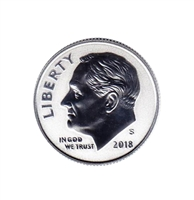 2018 S Silver Reverse Proof Roosevelt Dime