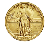 2016 Standing Liberty Centennial Gold Coin 1/4th Ounce