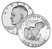 1974 S 40% Silver Uncirculated Eisenhower Dollar