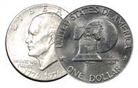1976 D Type 2 BU Uncirculated Eisenhower Dollar