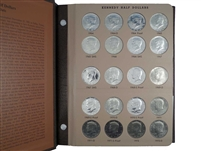 1964 - 2011 P, D, S and Silver Proof Kennedy Half Dollar Set in Dansco Album 158 Coins