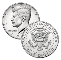 2018 - P Kennedy Half Dollars - Roll of 20