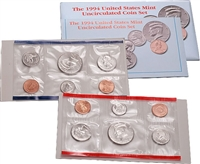 1994 U.S. Mint 10 Coin  Set in OGP with CoA