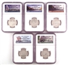 NGC PF70 2011 National Park Clad Proof Quarter 5 Coin Set