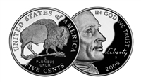 2005 - S American Bison Proof Westward Journey Jefferson Nickel