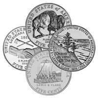 2004 - 2005 Westward Journey Nickel Set 8 Coin P and D singles
