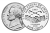 "2004 - D Jefferson Nickel Roll  ""Peace Medal"" Design"