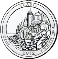 2012 - D Acadia - Roll of 40 National Park Quarters