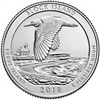 2018 - P Block Island Wildlife Refuge, RI National Park Quarter Single Coin