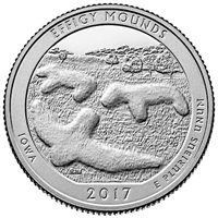 2017 - P Effigy Mounds, IA National Park Quarter 40 Coin Roll