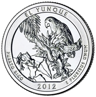 2012 - D El Yunque - Roll of 40 National Park Quarters