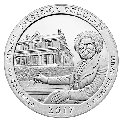 2017 - P Frederick Douglass, DC National Park Quarter Single Coin
