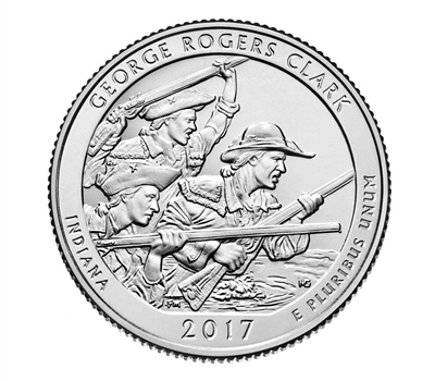 2017 - D George Rogers Clark National Historical Park, IN National Park Quarter Quarter Single Coin
