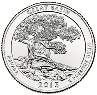 2013 - D Great Basin - Roll of 40 National Park Quarters