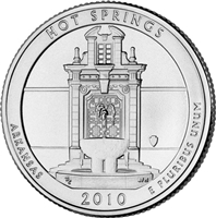2010 - D Hot Springs - Roll of 40 National Park Quarters