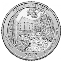 2017 - P Ozark Riverways, MO National Park Quarter 40 Coin Roll