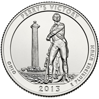 2013 - D Perry's Victory National Park Quarter Single Coin
