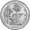 2018 - P Pictured Rocks National Lakeshore, MI National Park Quarter 40 Coin Roll